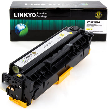 LINKYO Replacement Yellow Toner Cartridge for HP 312A CF382A