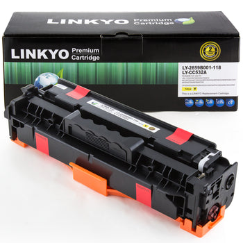 LINKYO Replacement Yellow Toner Cartridge for Canon 118 (2659B001AA)