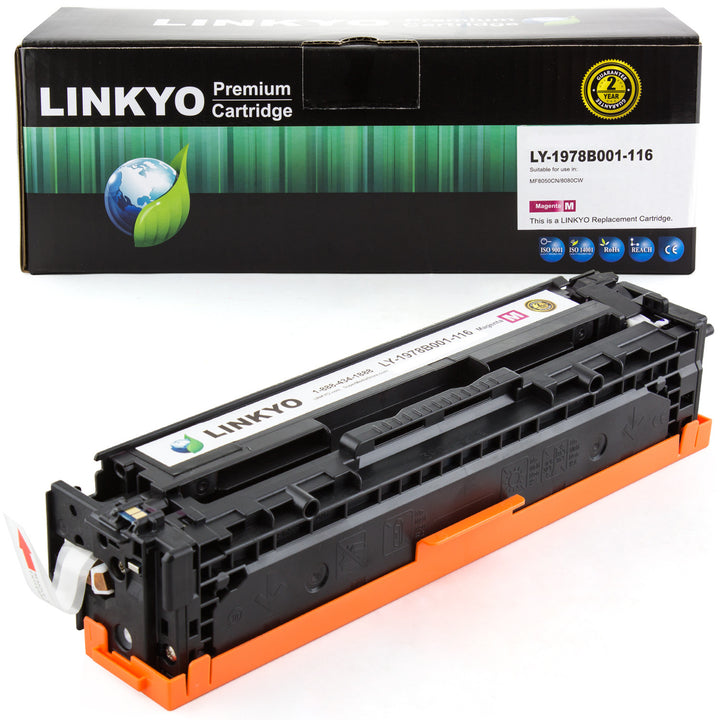 LINKYO Replacement Magenta Toner Cartridge for Canon 116 (1978B001AA)