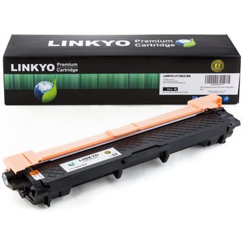 LINKYO Replacement Black Toner Cartridge for Brother TN221BK