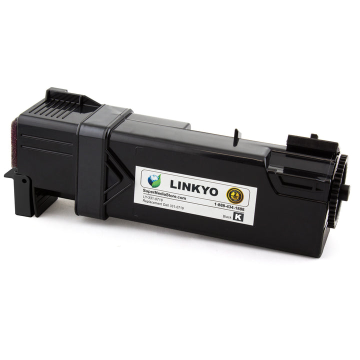 LINKYO Replacement Black Toner Cartridge for Dell 2150, 2155