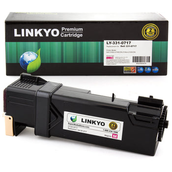 LINKYO Replacement Magenta Toner Cartridge for Dell 2150, 2155