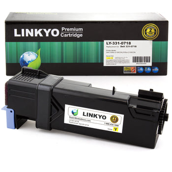 LINKYO Replacement Yellow Toner Cartridge for Dell 2150, 2155