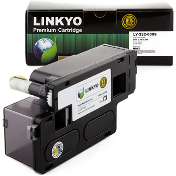 LINKYO Replacement Black Toner Cartridge for Dell C1660W