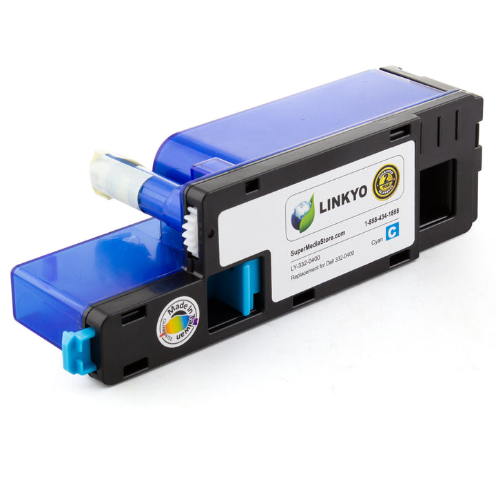 LINKYO Replacement Cyan Toner Cartridge for Dell C1660W