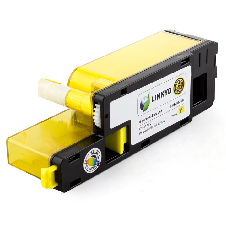 LINKYO Replacement Yellow Toner Cartridge for Dell C1660W