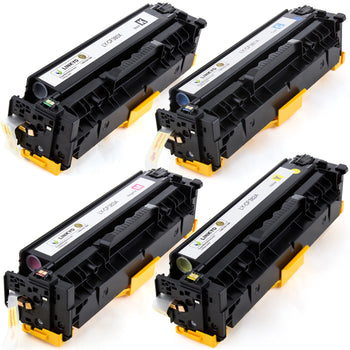 LINKYO Replacement 4-Color Toner Set for HP 312A 312X (Black, Cyan, Magenta, Yellow)