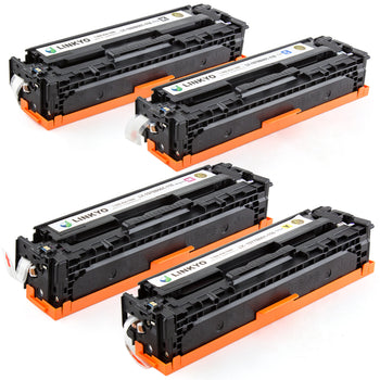 LINKYO Replacement 4-Color Toner Set for Canon 116 (Black, Cyan, Magenta, Yellow)