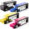 LINKYO Replacement 4-Color Toner Set for Dell C1660W (Black, Cyan, Magenta, Yellow)