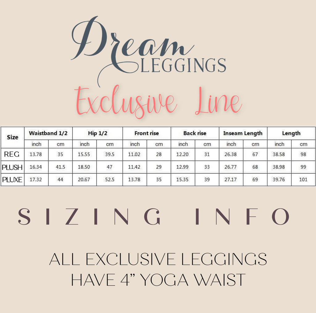 Exclusive Leggings Size Chart
