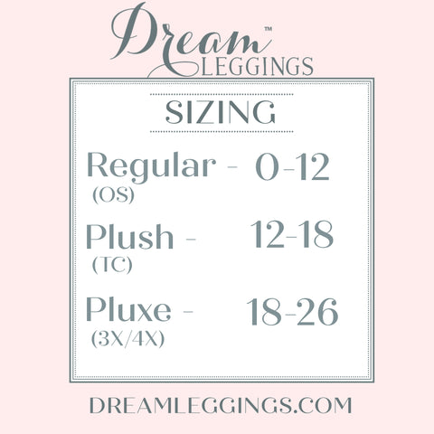 Dream Leggings Size CHart