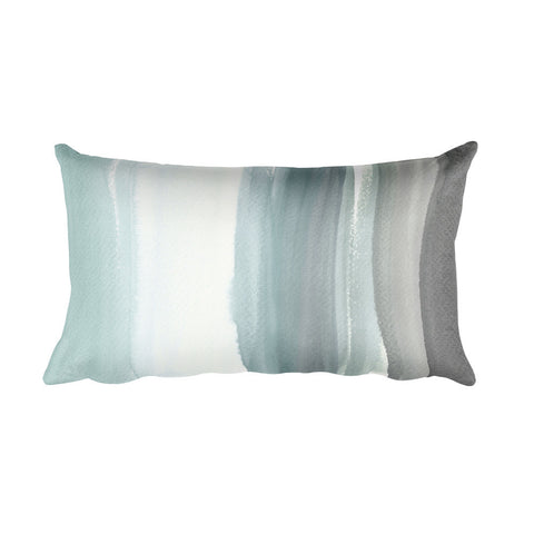 Ocean Mist Watercolor Rectangular Pillow