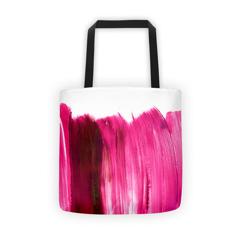 Pink Acrylic Brushed Tote Bag
