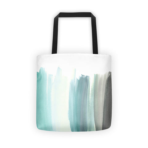 Abstract Blue Watercolor Tote Bag