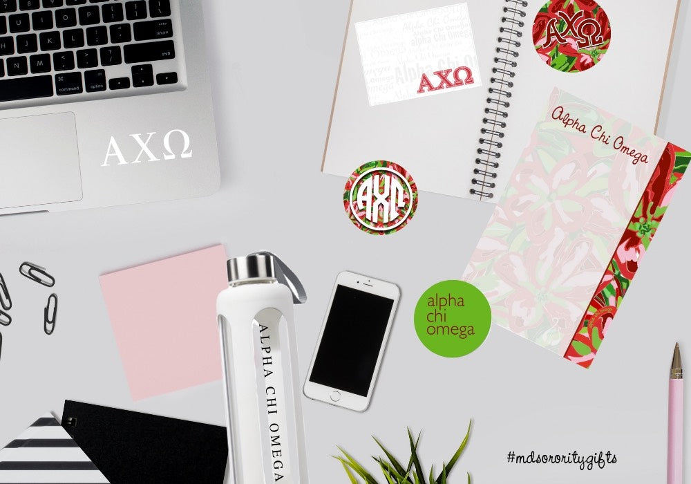 Alpha Chi Omega Study Supplies & Tips a Must Have for Back to School, Mid-Terms or Finals Gift I Great filler for bid day and gift baskets.