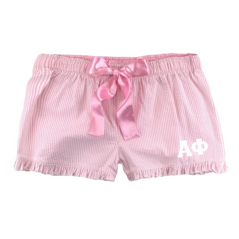 Recommended Sorority Gifts for Valentine's Day I Pink Stripe Pajamas