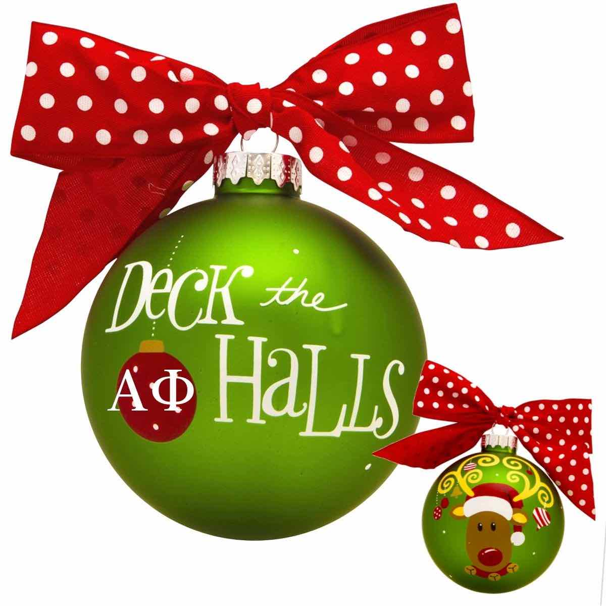 Deck the Halls Greek Letter Sorority Ornaments
