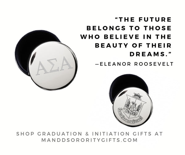 Shop Alpha Sigma Alpha jewelry and pin boxes for senior graduation gifts and initiation gifts.