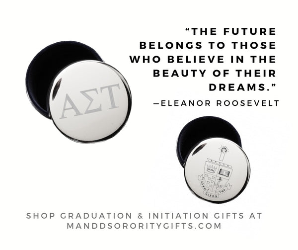 Shop Alpha Sigma Tau jewelry and pin boxes for senior graduation gifts and initiation gifts.
