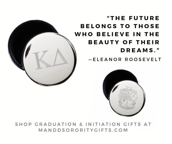 Shop Kappa Delta jewelry and pin boxes for senior graduation gifts and initiation gifts.