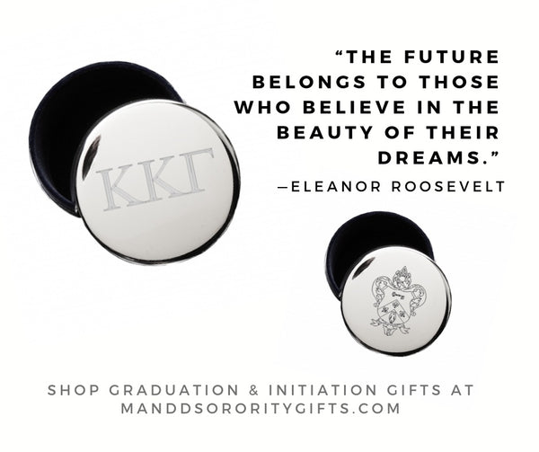 Shop Kappa Kappa Gamma jewelry and pin boxes for senior graduation gifts and initiation gifts.