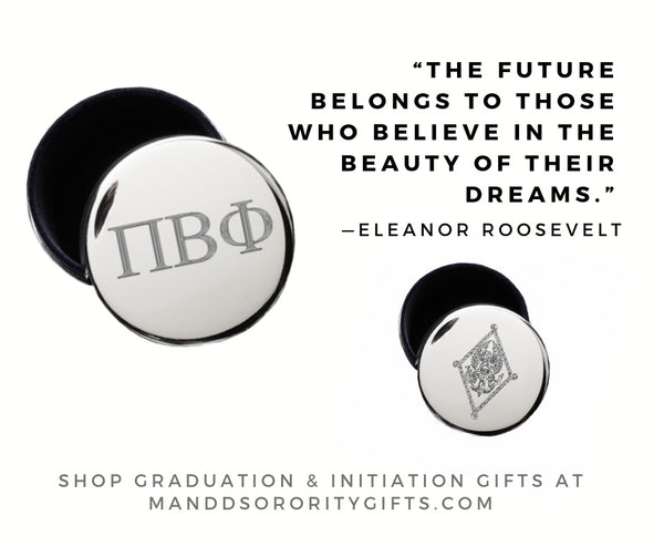Shop Pi Beta Phi jewelry and pin boxes for senior graduation gifts and initiation gifts.