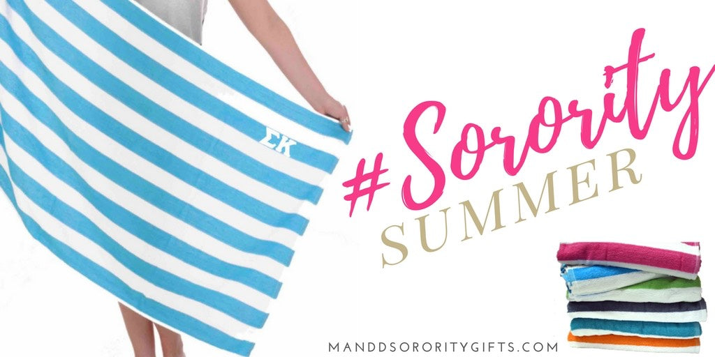 Sorority Beach Towel Collection starting at only $18.98