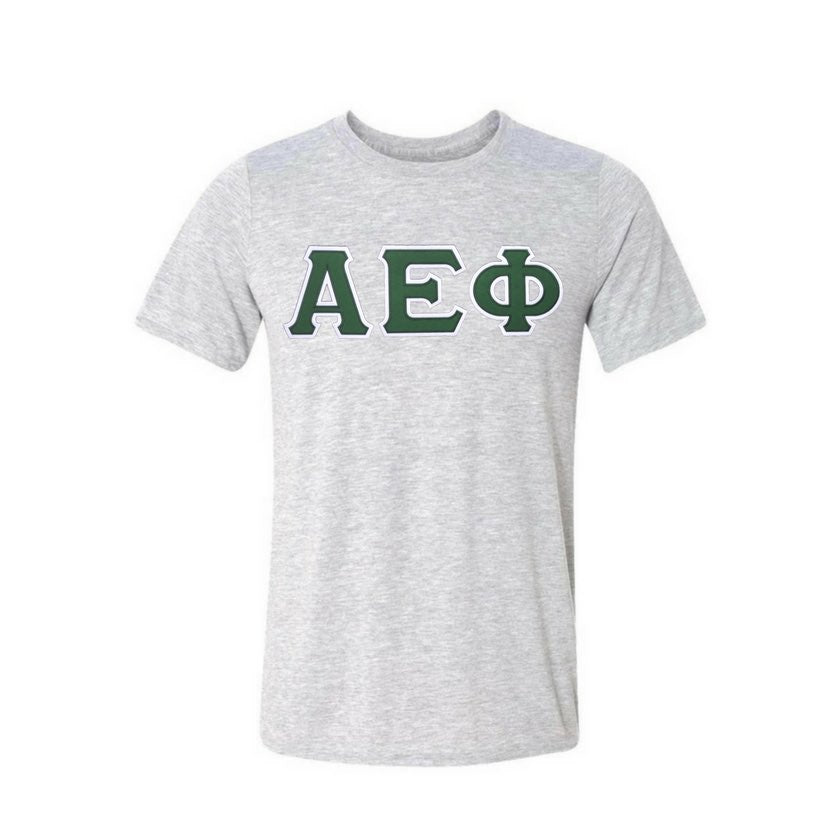 Alpha Epsilon Phi T-shirt . Stitched Greek Letters . Two Layer