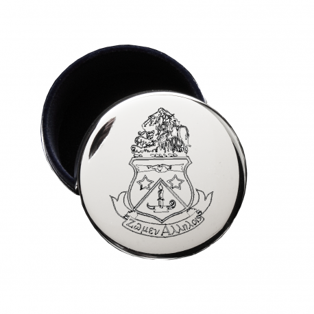 Alpha Delta Pi crest jewelry box great gift for seniors. Shop #AlphaDeltaPi merchandise at #mdsororitygifts 200+ #ADPI products available.