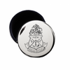 Alpha Delta Pi Crest Jewelry & Pin Box . Round . Engraved