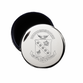 Sigma Kappa Crest Jewelry & Pin Box . Round . Engraved