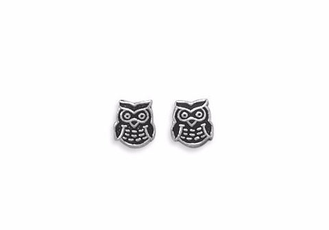 Chi Omega Owl Earrings . Small Studs