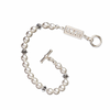 Alpha Chi Omega Bracelet with Swarovski Pearls & Sterling Silver Greek Letters Bar
