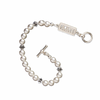 Alpha Delta Pi Bracelet with Swarovski Pearls & Sterling Silver Greek Letters Bar