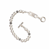 Sigma Kappa Bracelet with Swarovski Pearls & Sterling Silver Greek Letters Bar