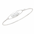 Alpha Chi Omega Bracelet . Bangle Sterling Silver