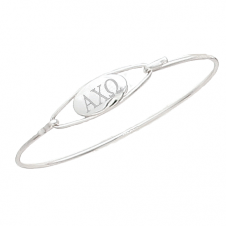 Alpha Chi Omega Bangle Bracelet Sterling Silver.