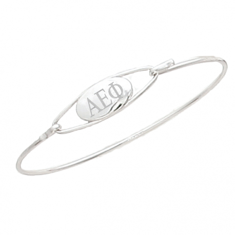Alpha Epsilon Phi Bangle Bracelet Sterling Silver.