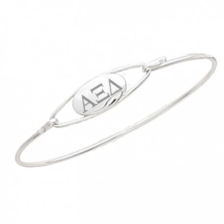 Alpha Xi Delta Bracelet . Bangle Sterling Silver