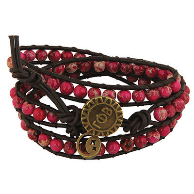 Gamma Phi Beta Triple Wrap Bracelet