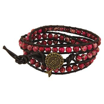 Pi Beta Phi Triple Wrap Bracelet