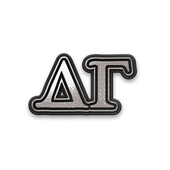 Delta Gamma Chrome Car Sticker