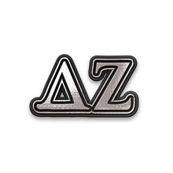 Delta Zeta Chrome Car Sticker