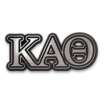 Kappa Alpha Theta Chrome Car Sticker