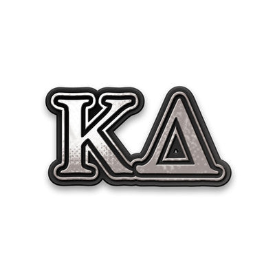 Kappa Delta Chrome Car Sticker