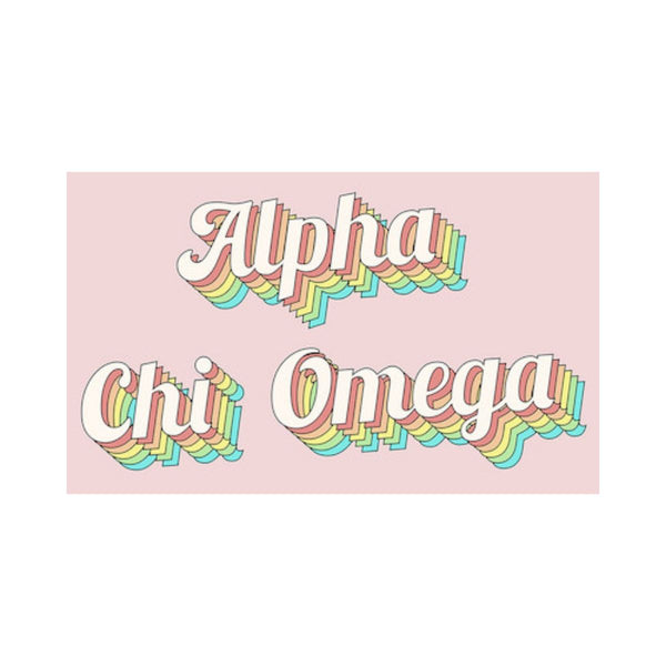 Alpha Chi Omega Retro Flag