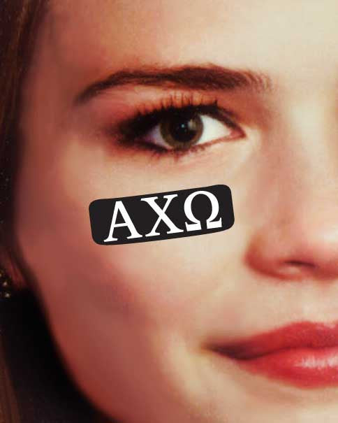 Alpha Chi Omega Eye Decals . Sheet of 24