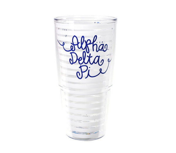 Alpha Delta Pi Tervis Tumbler in fun sorority colors. Shop #AlphaDeltaPi merchandise at M&D Sorority Gifts. 200+ #ADPI products available. #mdsororitygifts