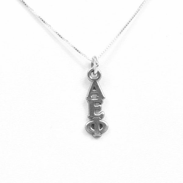 Alpha Epsilon Phi Lavalier . Sterling Silver or Gold
