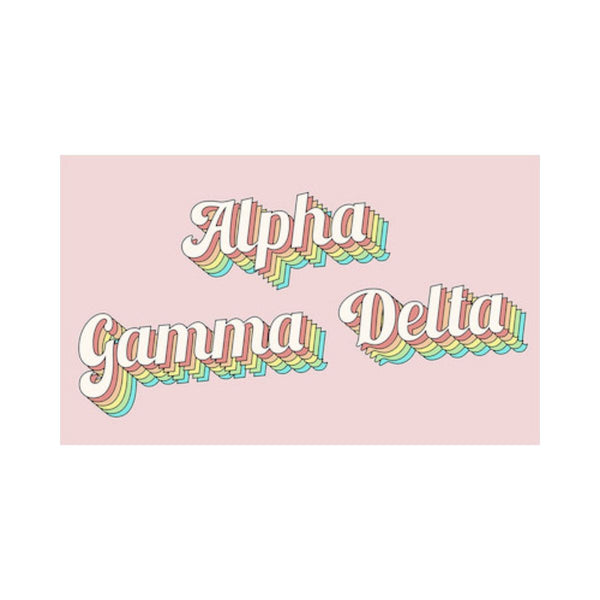 Alpha Gamma Delta flags are always a must have. We have a design for every Alpha Gamma Delta woman.